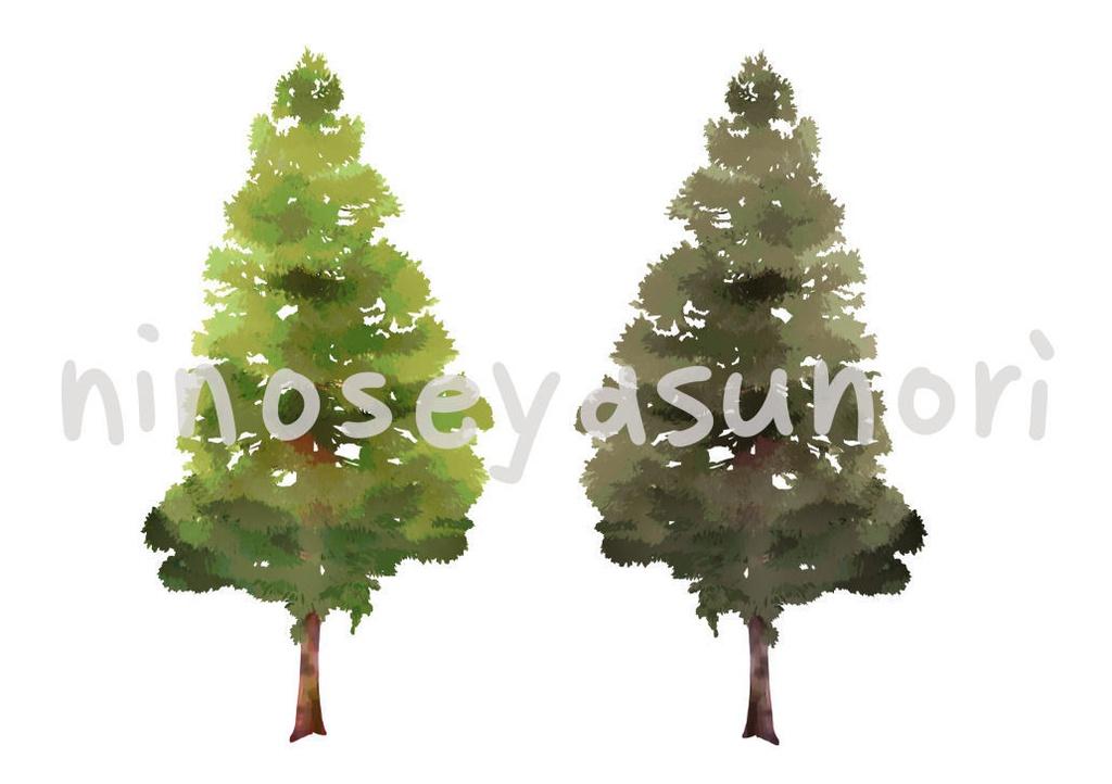 画像素材 針葉樹(png)
