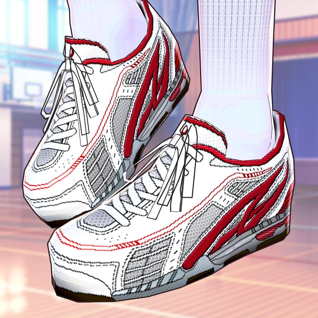 [VRoid]無料版有 運動靴セット