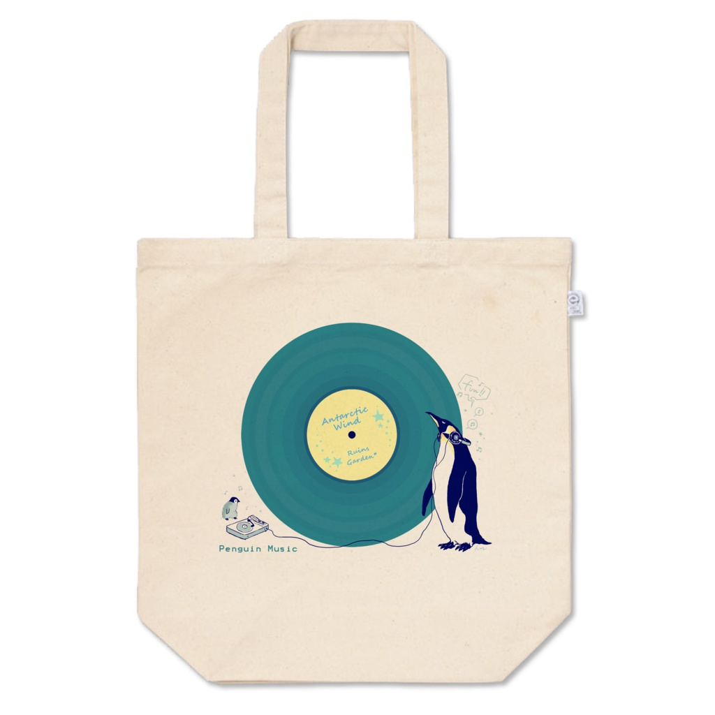 ペンギンレコード(ブルーグリーン)トートバッグ