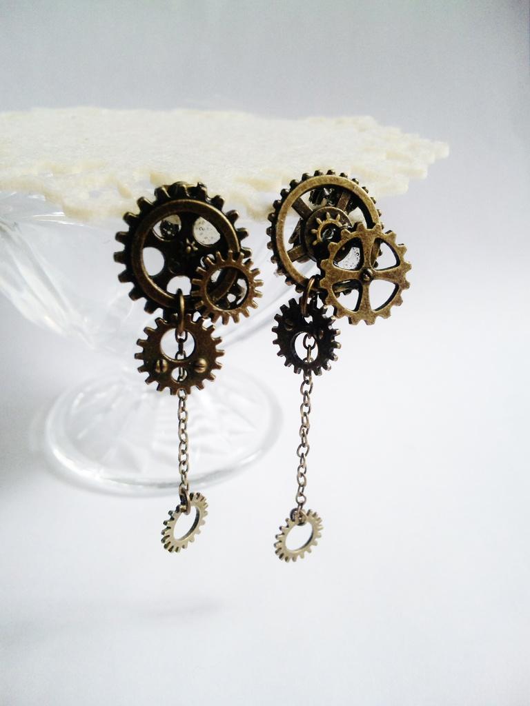 歯車のイヤリング(全二種類)《片方売り》
