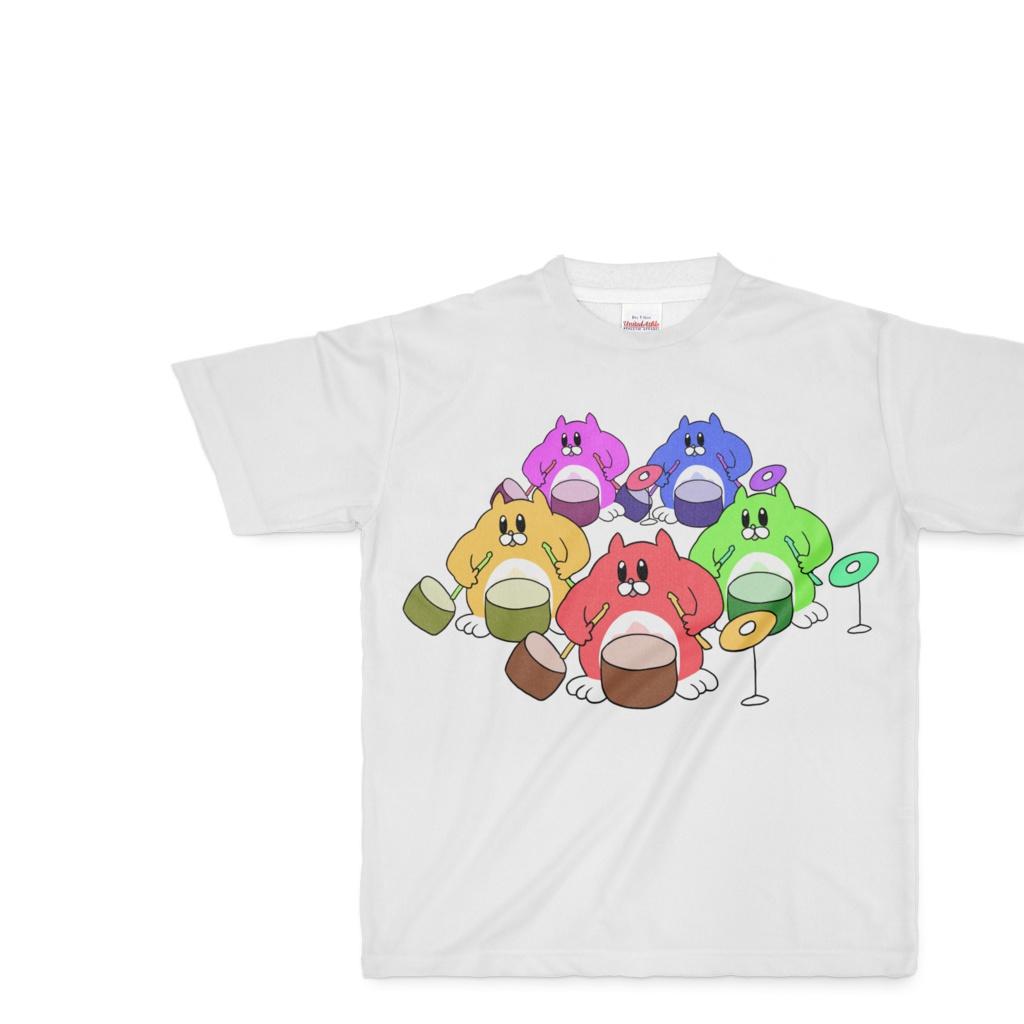 星たぬきバンドTシャツ