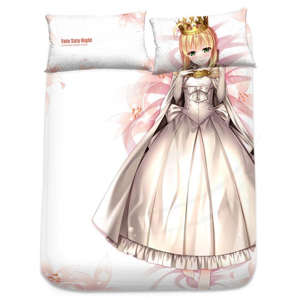 Fate/Zero セイバー シーツ 布団カバー ブランケット 毛布 枕セット 尚萌 cz10001