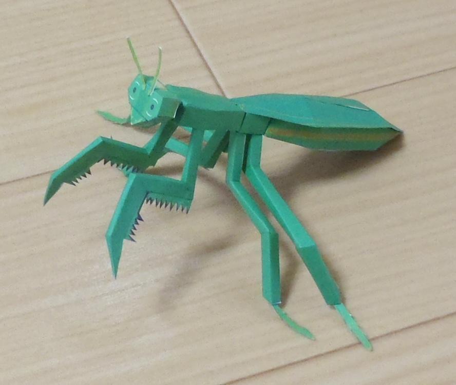 ペーパークラフト カマキリsp.