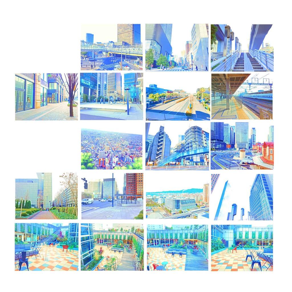 マサドラ - booth代购 - 详情:イラスト風&水彩風背景素材集 都会の背景