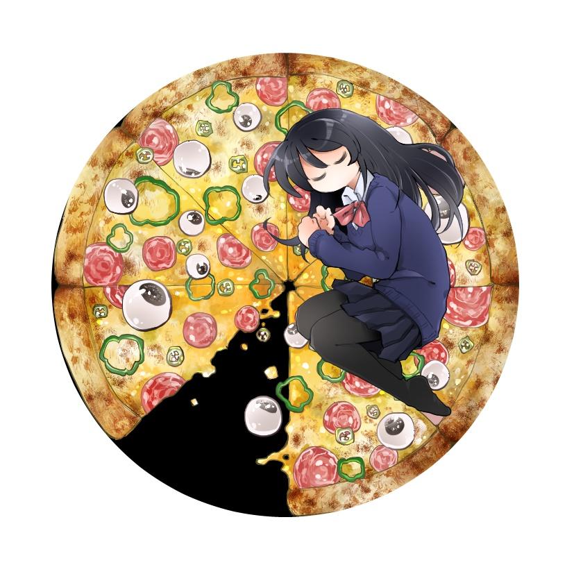 Y原さんの目玉ピザ缶バッチ