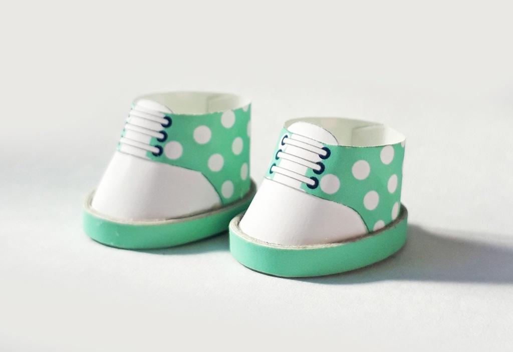 【無料】紙のぬい靴作り方 アレンジ自由