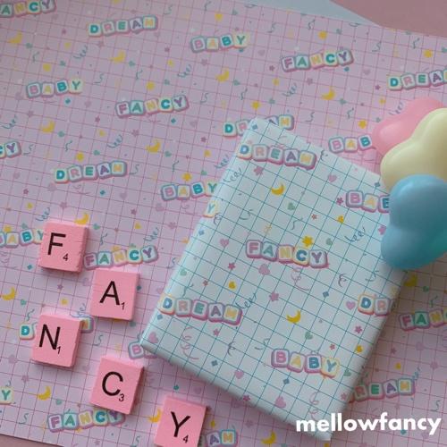 【 Fancy Letter  】オリジナルラッピングペーパー 2種セット