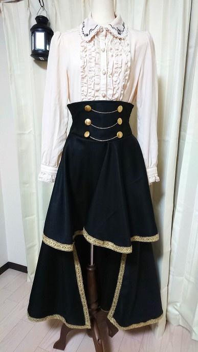 【魔女達の夜会】編み上げ風フィッシュテールスカート【Astravia】