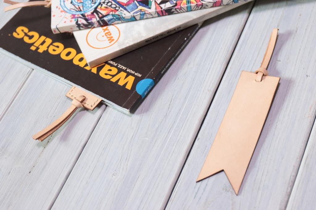 【素体商品】国産ヌメ革・手縫いブックマーク(選べる4種)