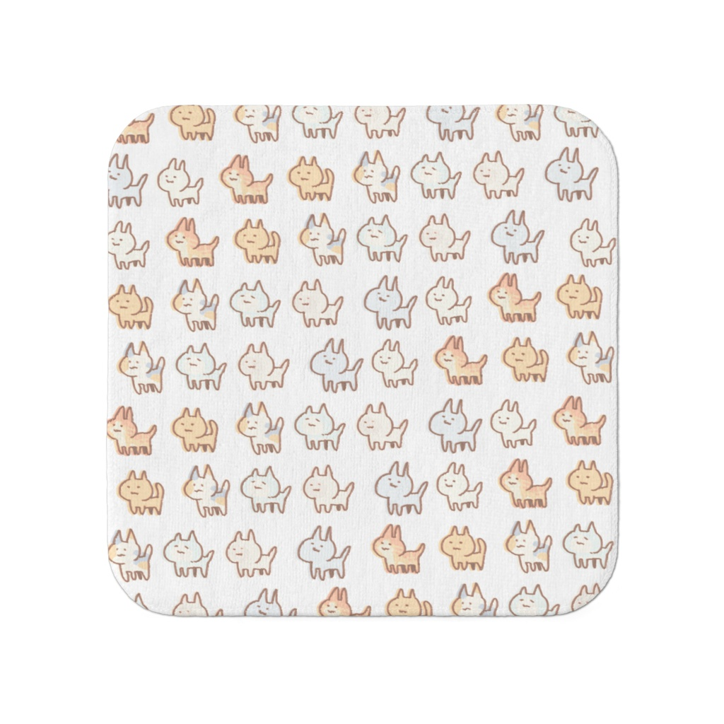 たくさんのネコのハンドタオル