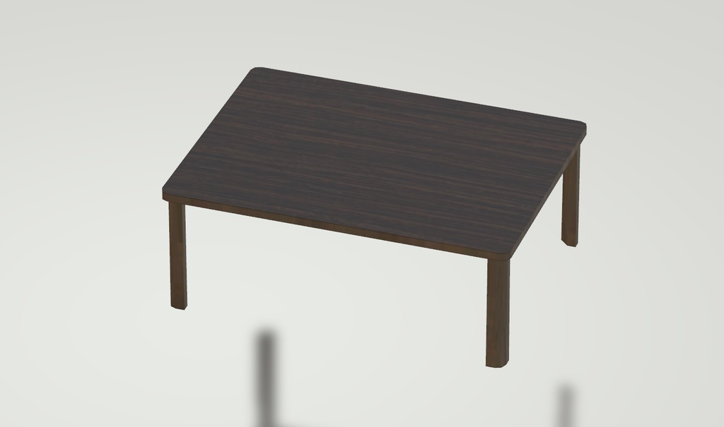 3Dモデル テーブル(材質:木材) ゲーム・漫画等利用可