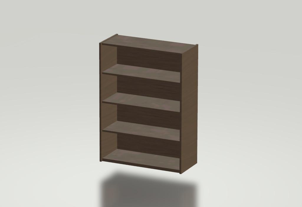 3Dモデル 棚(材質:木材) ゲーム・漫画等利用可