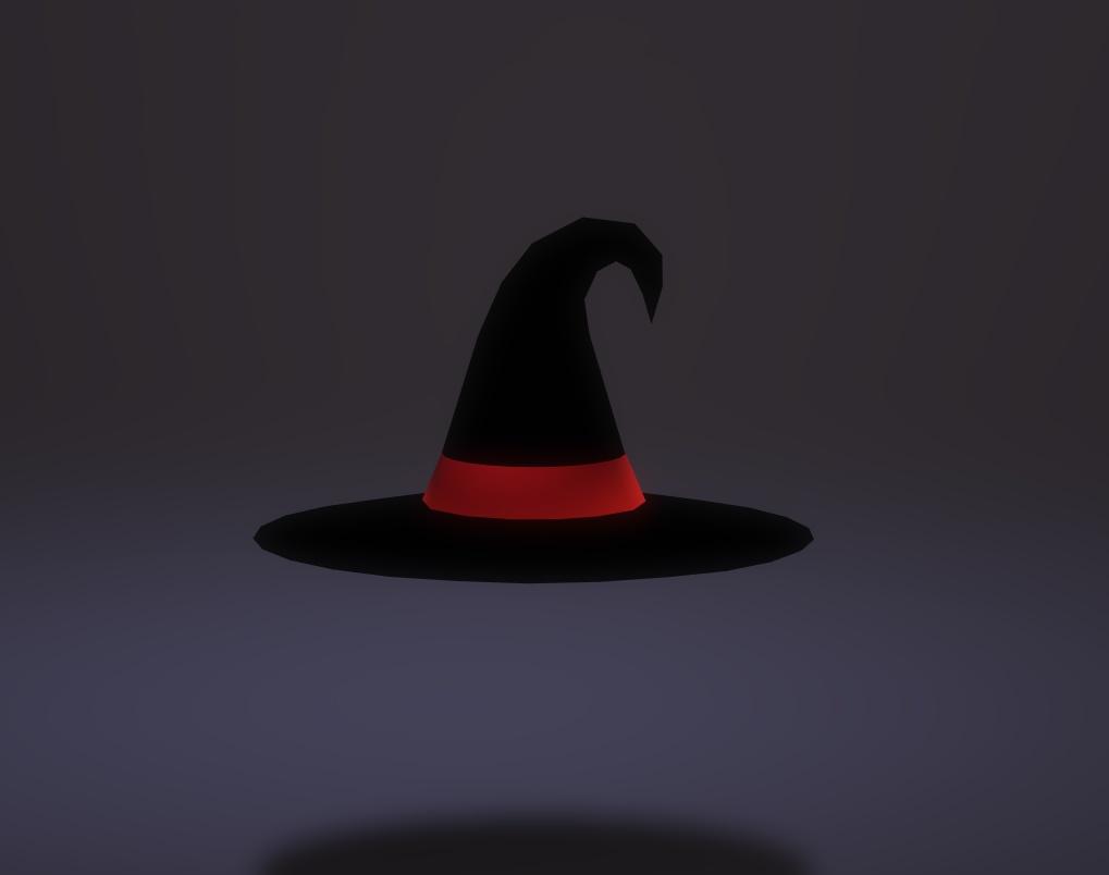3Dモデル ハロウィンハット ゲーム・漫画等利用可