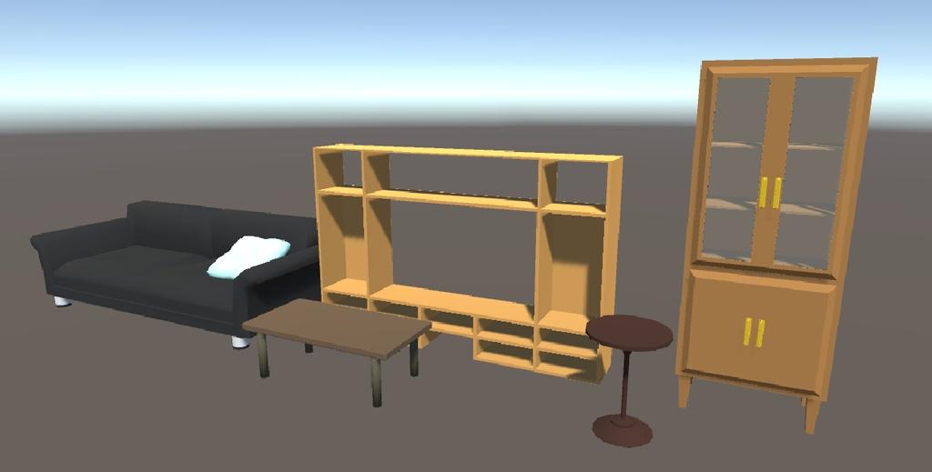 3Dモデル テレビスタンドセット ゲーム・漫画等利用可
