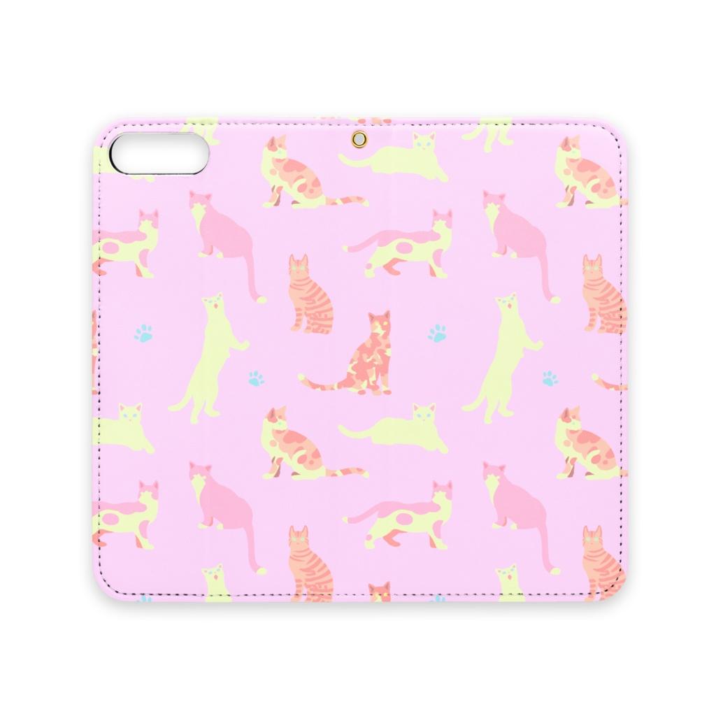 ねこちゃんiPhoneケース(ピンク)