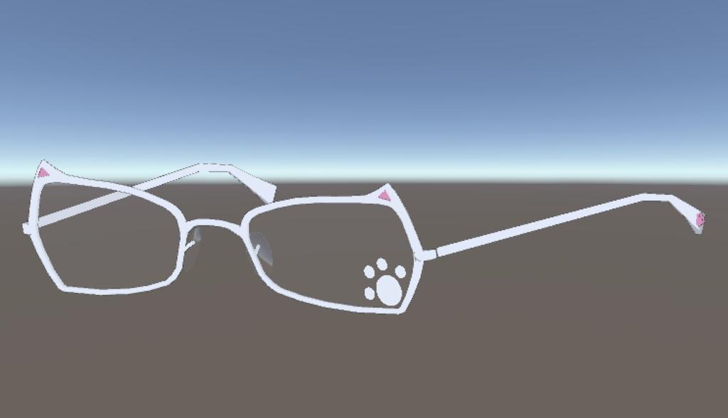フルリム眼鏡(猫型)
