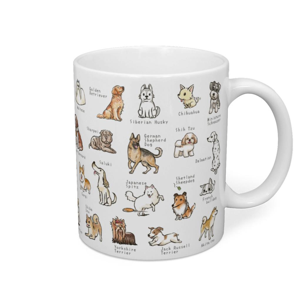 ワンコ42犬種マグカップ。