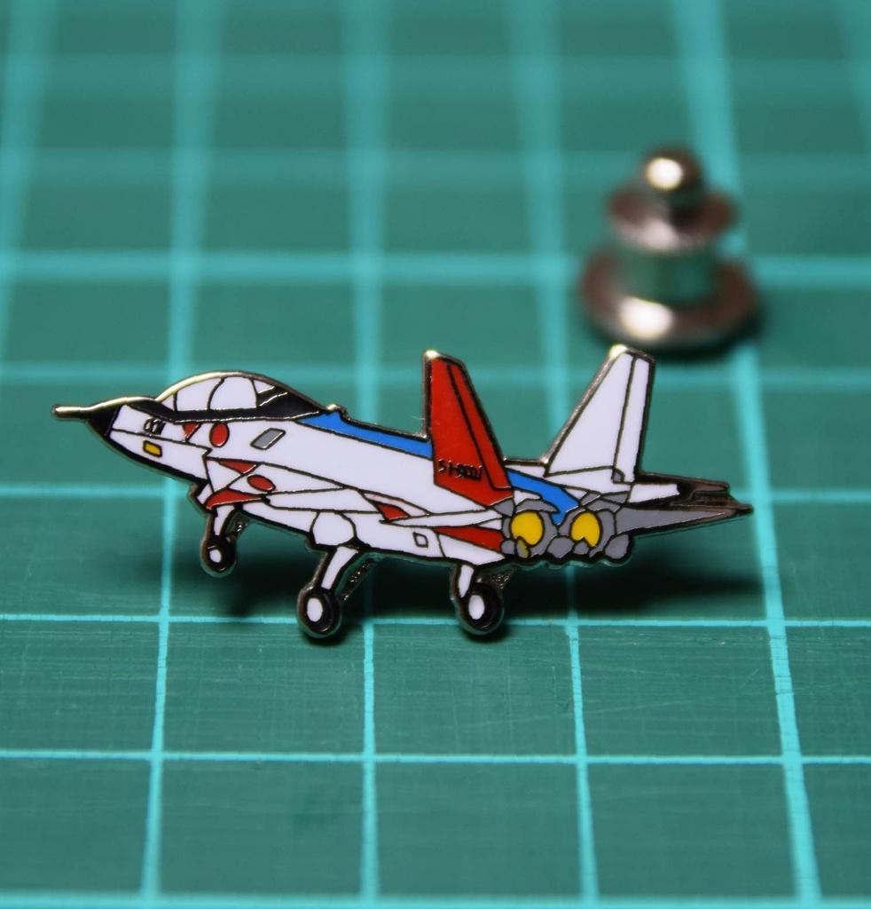 オリジナルピンバッジ 先進技術実証機X-2(初飛行Ver.)