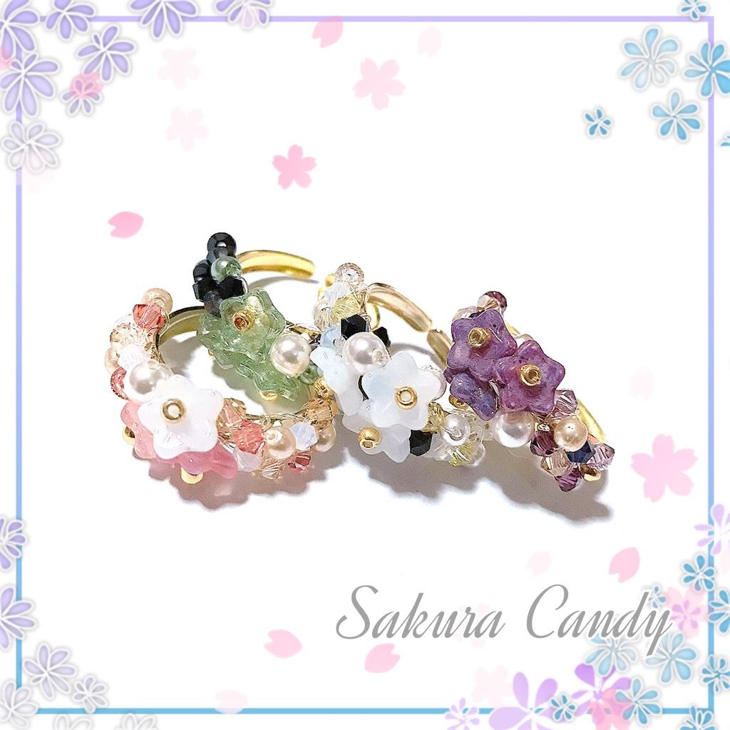 【刀剣乱舞イメージ】桜のビーズリング