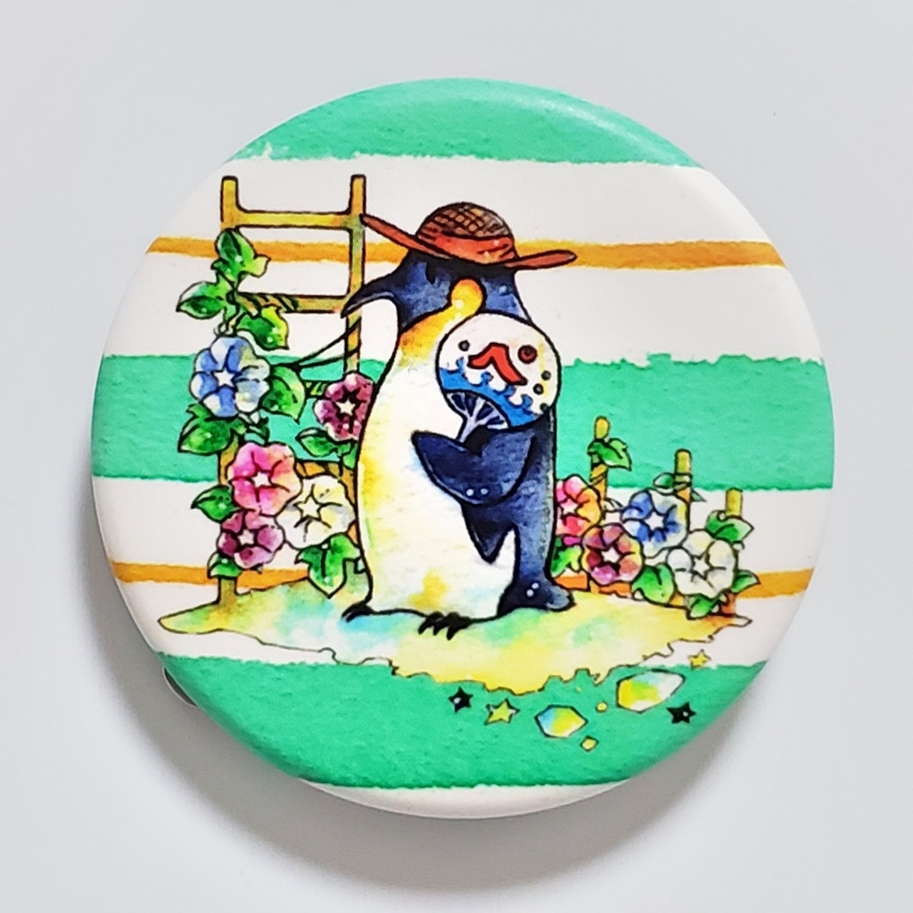 缶バッジ(7月ペンギン)
