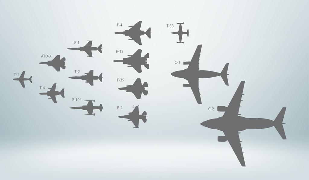 航空自衛隊ジェット機シルエット素材(デジタル png / ai版)