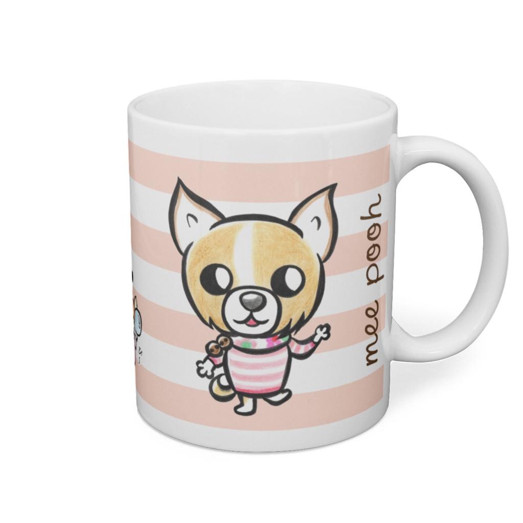 めいちゃんのボーダーマグカップ
