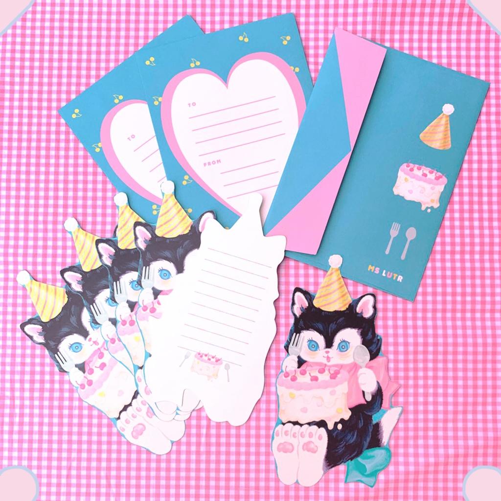 カードレターセット(ネコ)