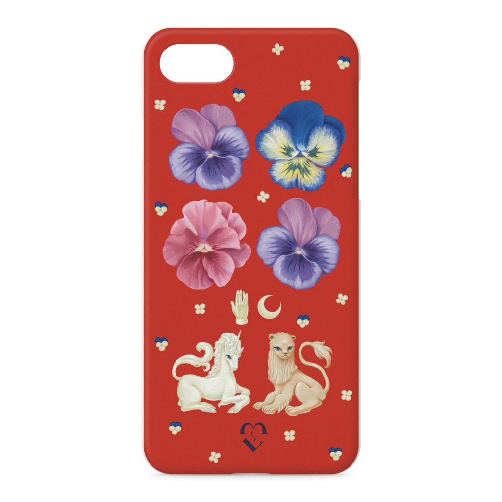 Holy Unicorn and Lion iPhone7ケース (red)