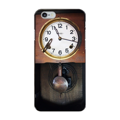 昭和レトロなアンティーク柱時計スマホケース/ iPhone5/5s/SE iPhone6/6s/Plus