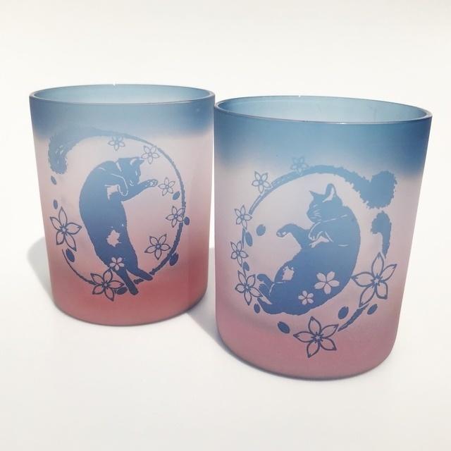 【春季】桜舞猫/仄桜+薄藍