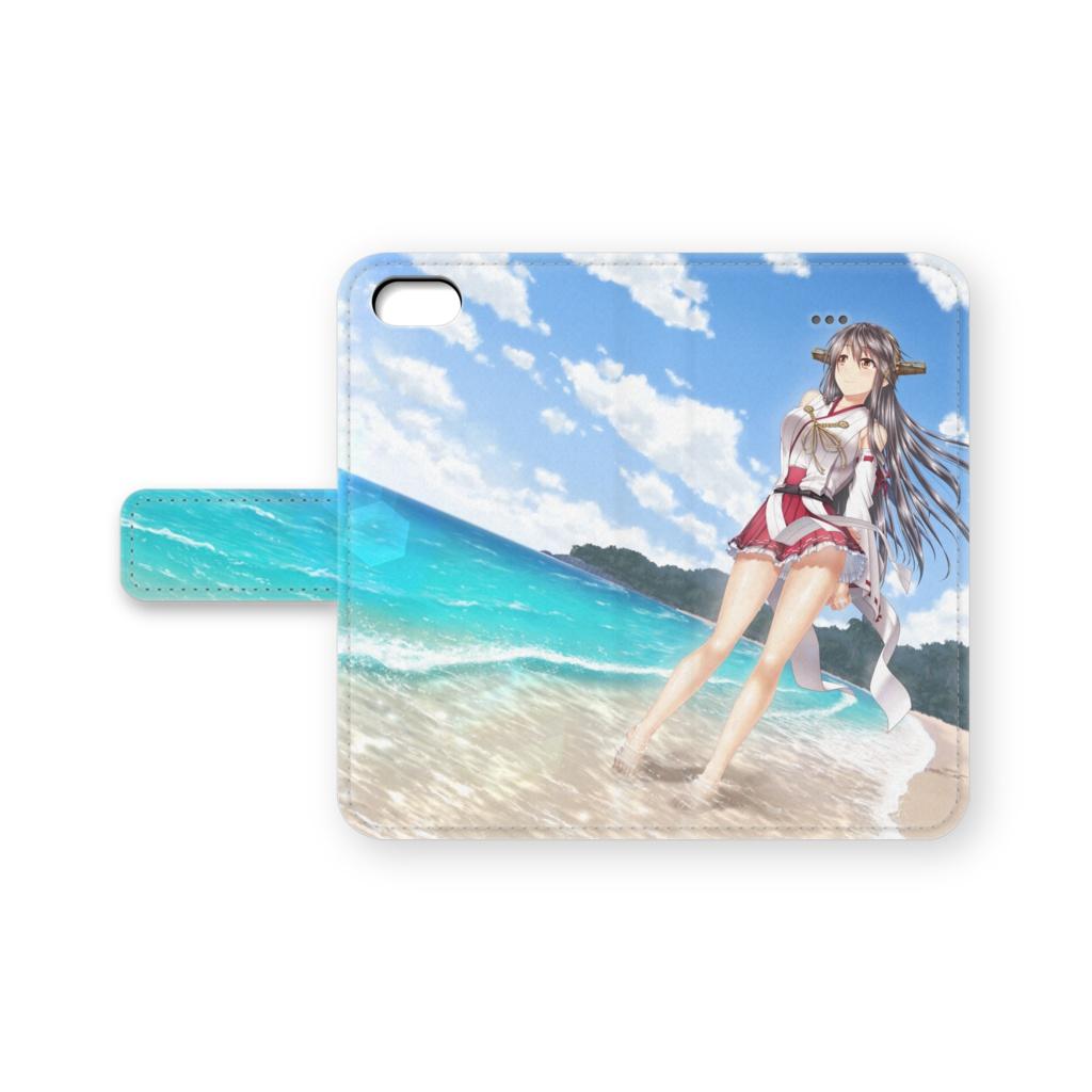 ひととき、静かな海で 手帳型iPhoneケース