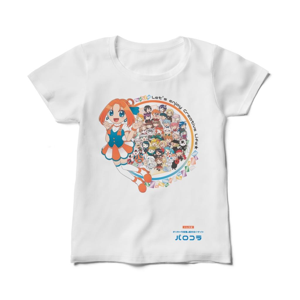 【パロコラ公式】白Tシャツ(レディース)【詩月様 ver.】