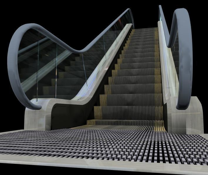 3DCG escalator