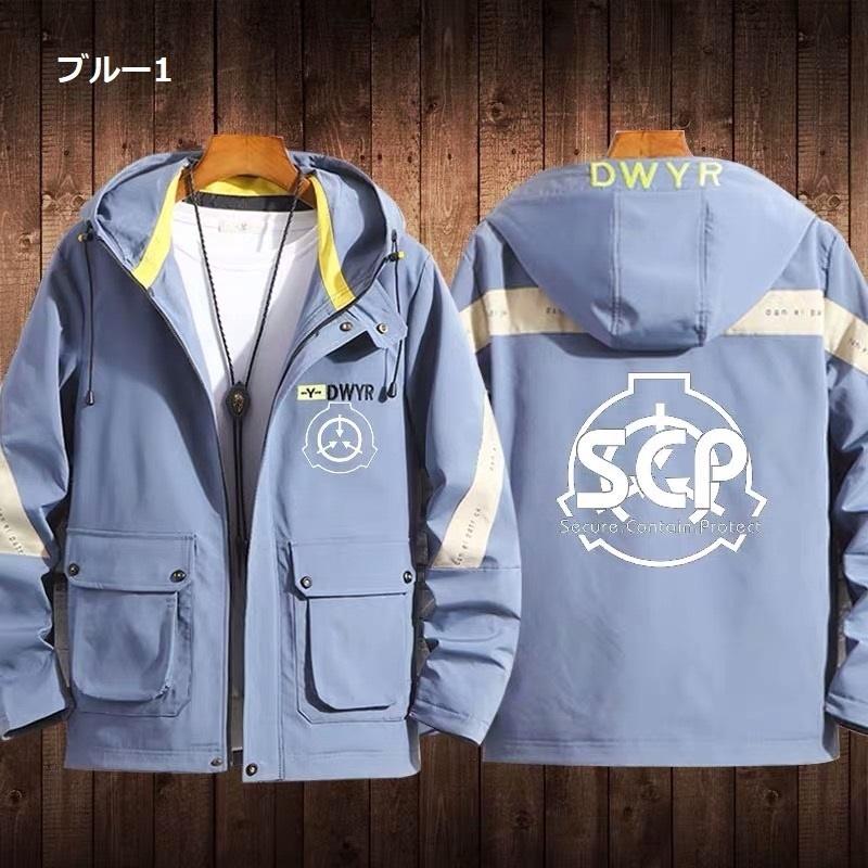 【SCPファンデーション】4色⁻ブルー ジャケット コート