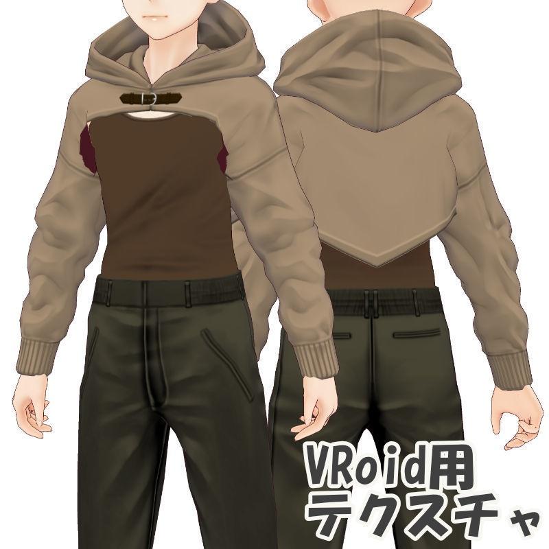 ショートパーカー【VRoid用テクスチャ】