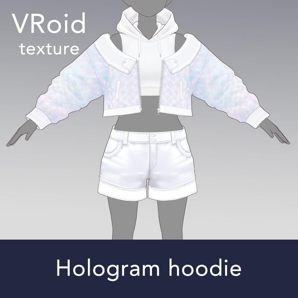 【VRoid texture 37 +VRM】ホログラムパーカー