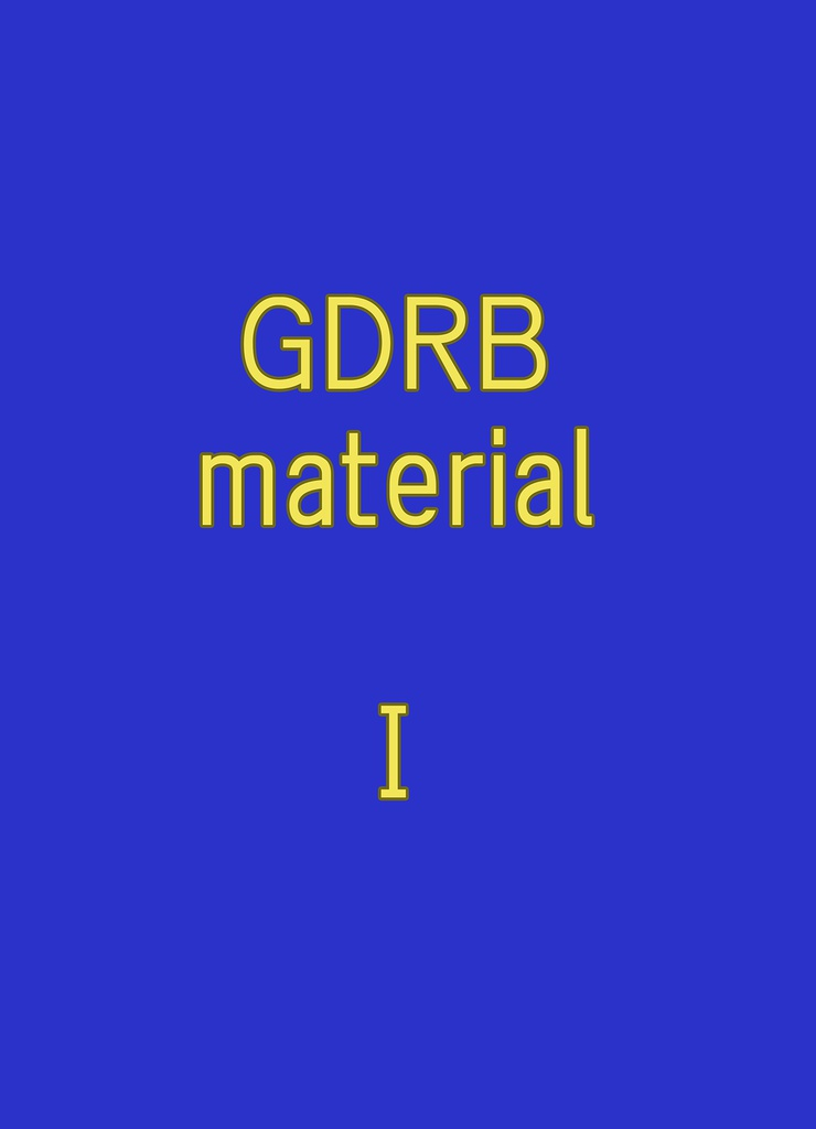 GDRB material 1