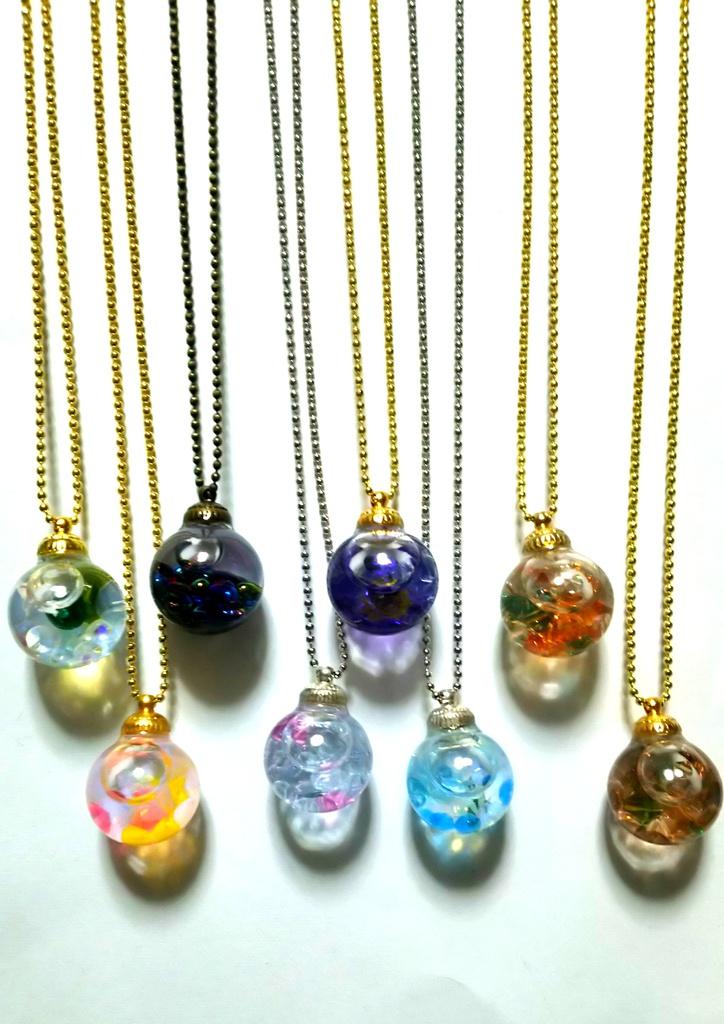 【鬼徹】ガラスドームのネックレス