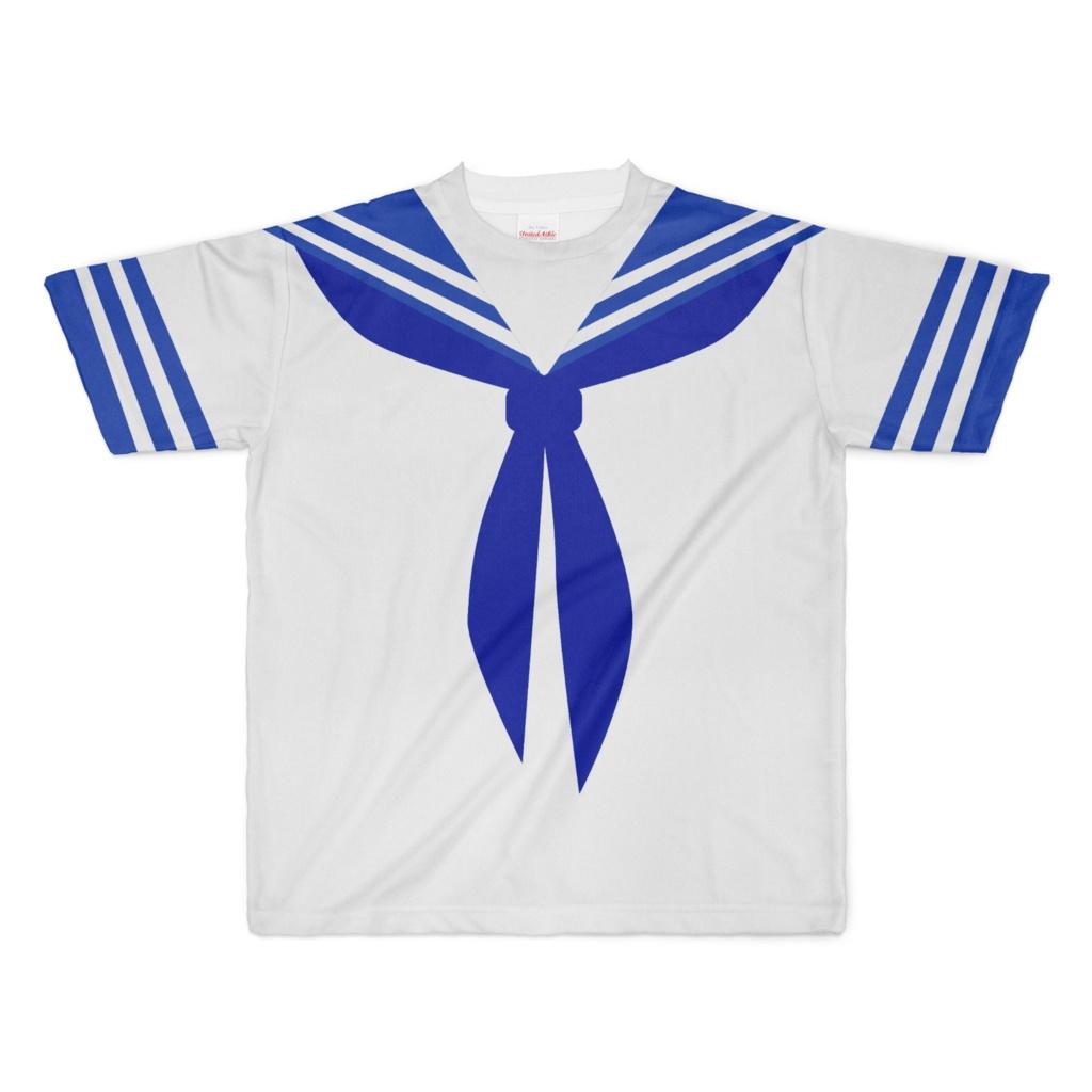 なんちゃってセーラー服 Tシャツ(XL)