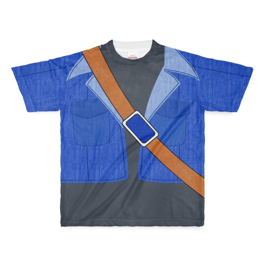 なんちゃってストリート剣士 Tシャツ(青/紺)Mサイズ