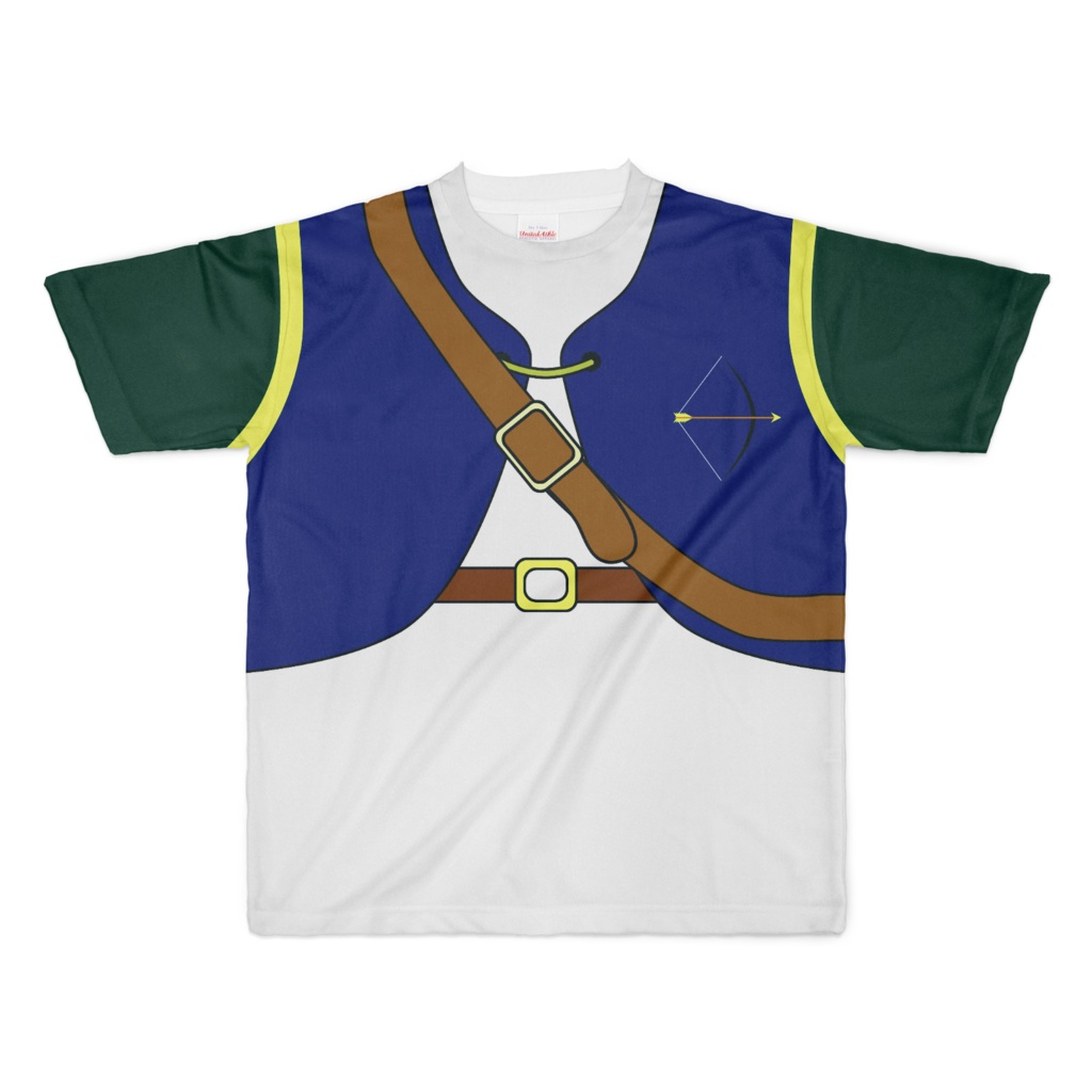 なんちゃってRPG アーチャーTシャツ(紺/緑)XLサイズ