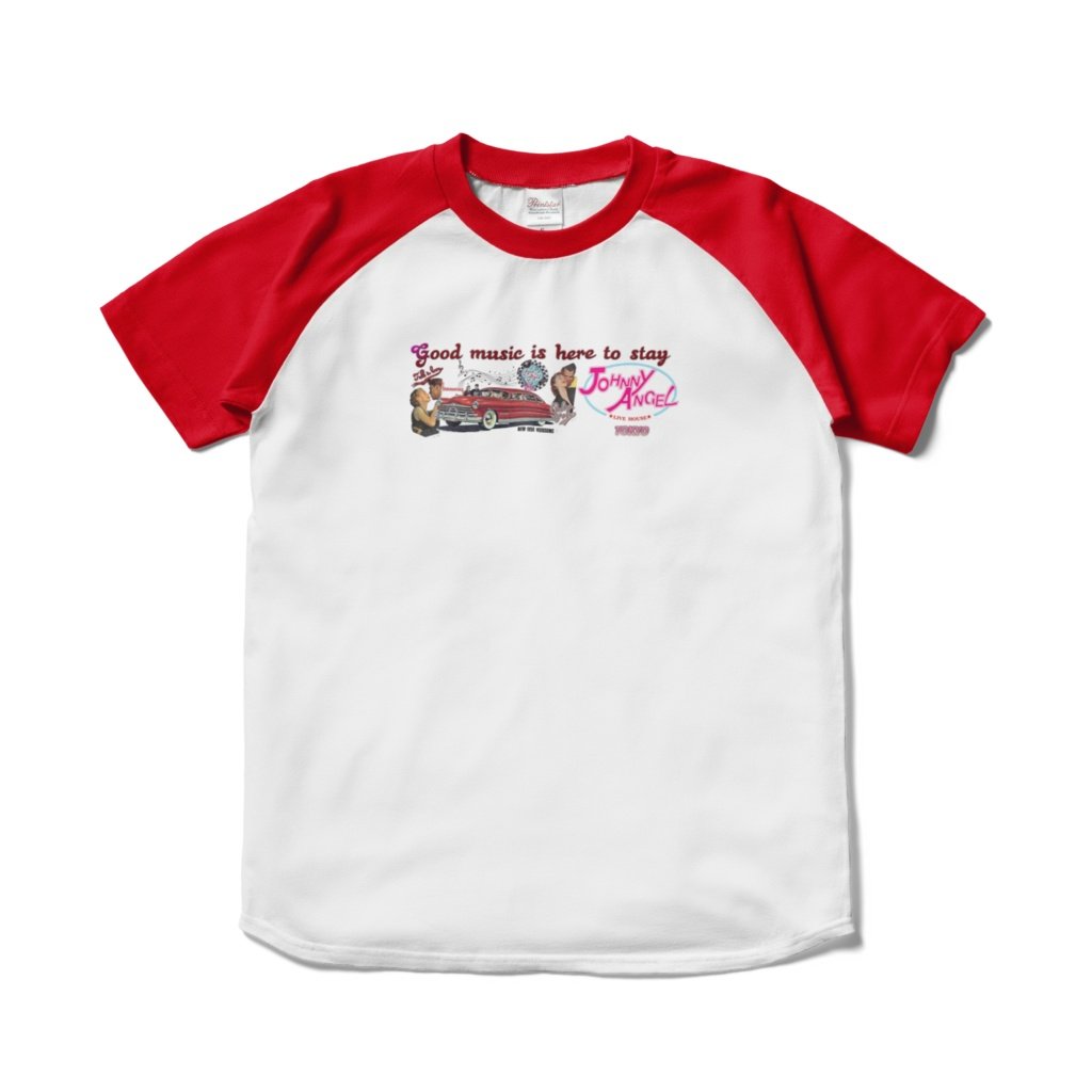 Live House Johnny Angel Tokyo T-shirt TipeC Red/White(ライブハウス ジョニーエンジェル東京Tシャツ タイプCレッド/ホワイト/赤白)