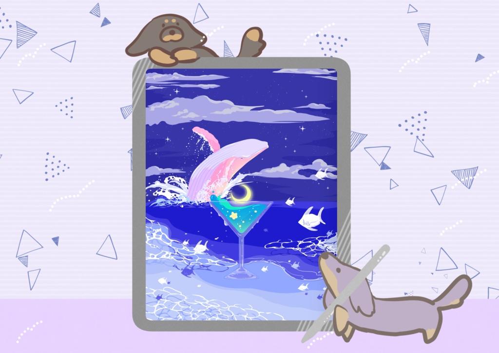 ほんわかポップアート03【PC iPad等 デジタル壁紙】