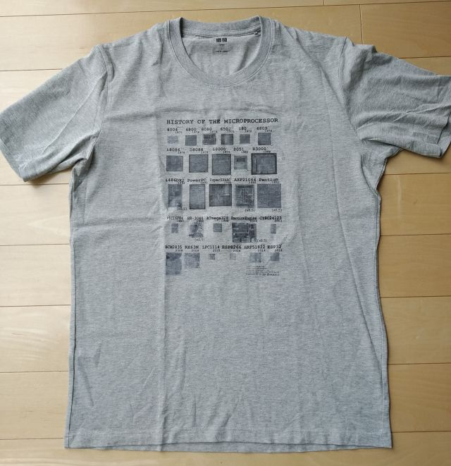 """""""Hisotory of Microprocessor"""" Tシャツ"""