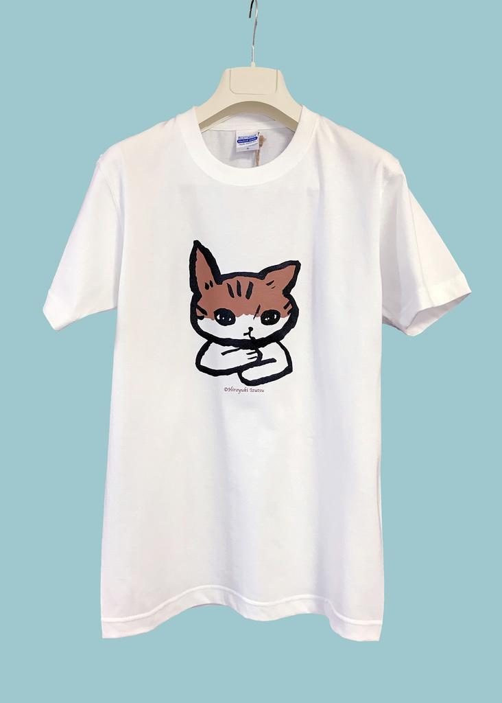 ネコTシャツ線画バージョン