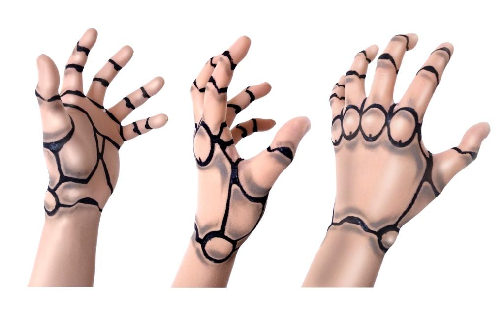 サイボーグ変身手袋(肌色タイプ)/ストッキング生地製