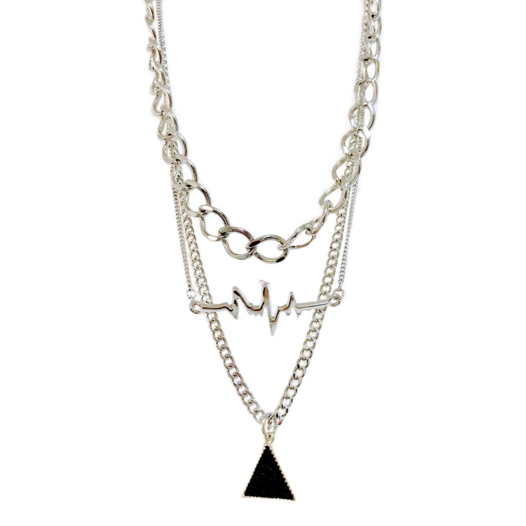« ハマ + short » layered chain necklace