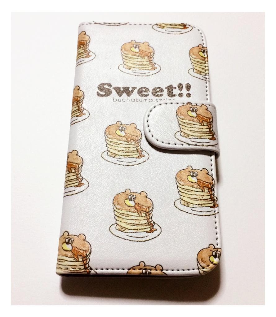 ぶちゃくま。ホットケーキiPhone6手帳型スマホケース