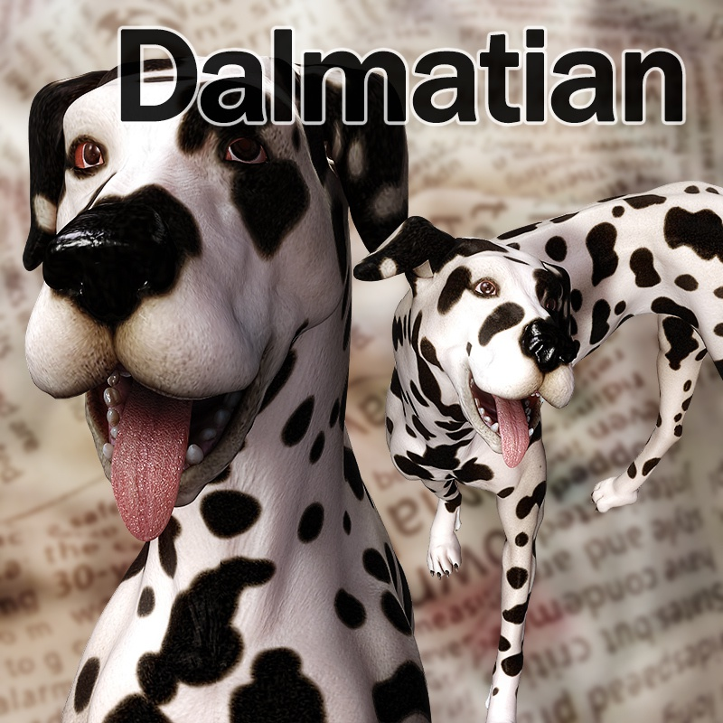 CL-Dalmatian for Poser8Dog