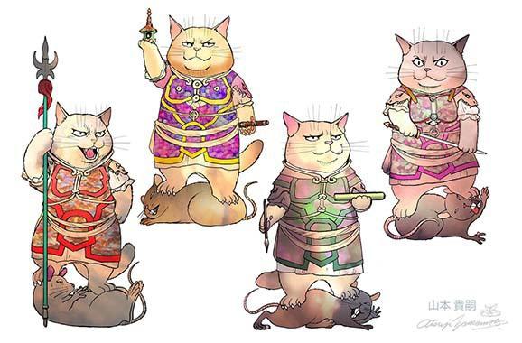 猫様絵ハガキ・6枚セット